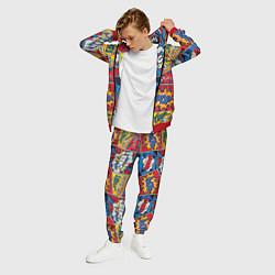 Костюм мужской Pop art pattern цвета 3D-красный — фото 2