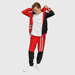 Костюм мужской Twenty One Pilots: Red Style цвета 3D-красный — фото 2