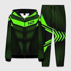 Костюм мужской N7: Green Armor цвета 3D-черный — фото 1