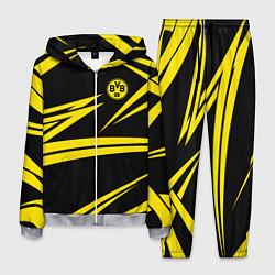 Костюм мужской FC Borussia: BVB Sport цвета 3D-меланж — фото 1
