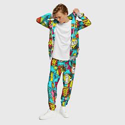 Костюм мужской Кислотный поп-арт цвета 3D-меланж — фото 2