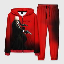 Костюм мужской Hitman: Red Agent цвета 3D-красный — фото 1