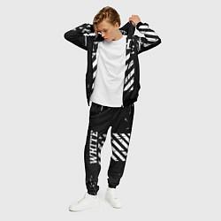 Костюм мужской Off white цвета 3D-черный — фото 2