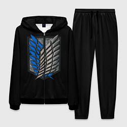 Костюм мужской Стальные крылья цвета 3D-черный — фото 1