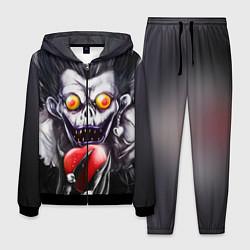 Костюм мужской Рюк с сердцем цвета 3D-черный — фото 1
