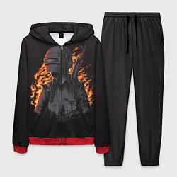 Костюм мужской PUBG: Flame Soldier цвета 3D-красный — фото 1