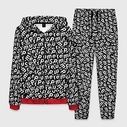 Костюм мужской Supreme: Black Letters цвета 3D-красный — фото 1