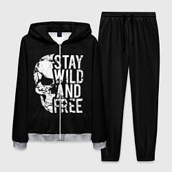 Костюм мужской Stay wild and free цвета 3D-меланж — фото 1