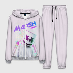 Костюм мужской Marshmello: New DJ цвета 3D-меланж — фото 1
