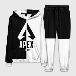 Костюм мужской Apex Legends: Black & White цвета 3D-белый — фото 1