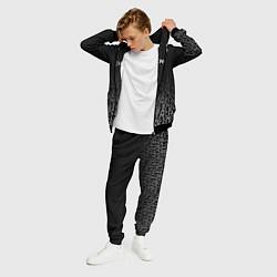 Костюм мужской Balenciaga: White Pattern цвета 3D-черный — фото 2