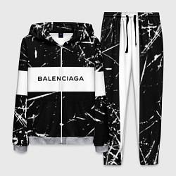 Костюм мужской Balenciaga: Black Marble цвета 3D-меланж — фото 1