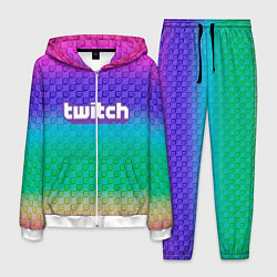 Костюм мужской Rainbow Twitch цвета 3D-белый — фото 1