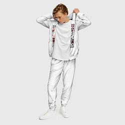 Костюм мужской Stray Kids цвета 3D-белый — фото 2