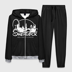 Костюм мужской Sherlock цвета 3D-меланж — фото 1