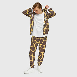 Костюм мужской Окрас жирафа цвета 3D-белый — фото 2