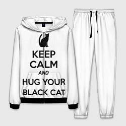 Костюм мужской Обними своего черного кота цвета 3D-черный — фото 1