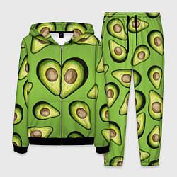 Костюм мужской Люблю авокадо цвета 3D-черный — фото 1