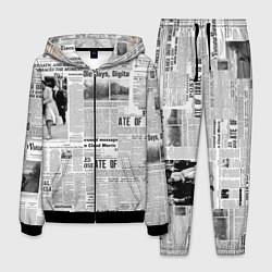 Костюм мужской Газета Newspaper цвета 3D-черный — фото 1