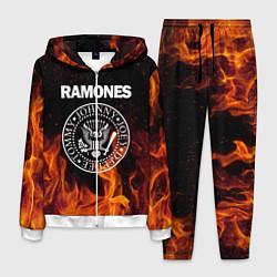 Костюм мужской Ramones цвета 3D-белый — фото 1