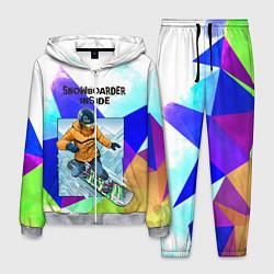Костюм мужской Сноуборд цвета 3D-меланж — фото 1