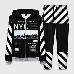 Костюм мужской Off-White: NYC цвета 3D-меланж — фото 1