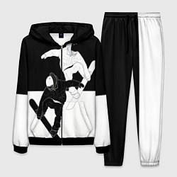 Костюм мужской Сноубордисты цвета 3D-черный — фото 1
