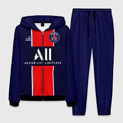 Костюм мужской PSG домашняя сезон 2021 цвета 3D-черный — фото 1