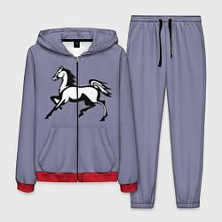 Костюм мужской Дикая лошадь цвета 3D-красный — фото 1