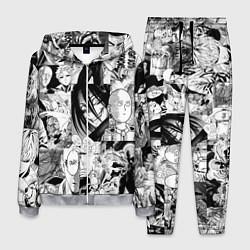 Костюм мужской One-Punch Man Ванпачмен цвета 3D-меланж — фото 1
