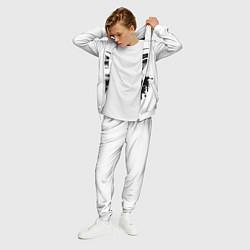 Костюм мужской Обезьяна Меломан цвета 3D-белый — фото 2