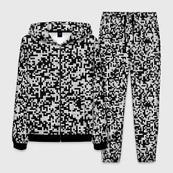 Костюм мужской Пиксельная Текстура цвета 3D-черный — фото 1