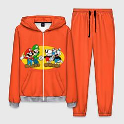Костюм мужской CupHead x Mario цвета 3D-меланж — фото 1