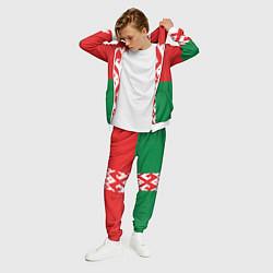 Костюм мужской Белоруссия цвета 3D-белый — фото 2