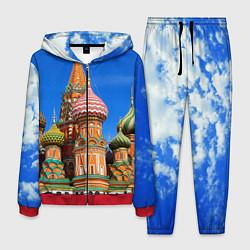 Костюм мужской Храм Василия Блаженного цвета 3D-красный — фото 1