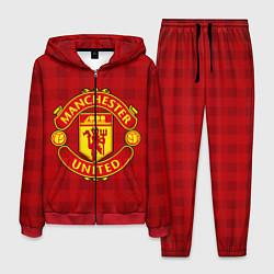 Костюм мужской Manchester United цвета 3D-красный — фото 1