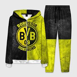 Костюм мужской Borussia Dortmund цвета 3D-белый — фото 1