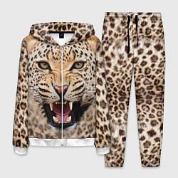 Костюм мужской Взгляд леопарда цвета 3D-белый — фото 1