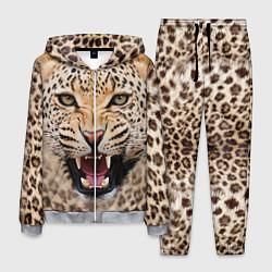 Костюм мужской Взгляд леопарда цвета 3D-меланж — фото 1