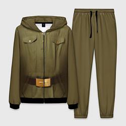 Костюм мужской Униформа солдата цвета 3D-черный — фото 1