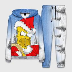 Костюм мужской Санта Гомер цвета 3D-меланж — фото 1