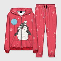 Костюм мужской Влюбленная пингвинка цвета 3D-красный — фото 1