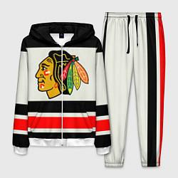 Костюм мужской Chicago Blackhawks цвета 3D-белый — фото 1