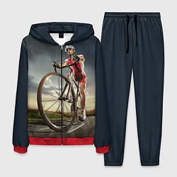 Костюм мужской Велогонщик цвета 3D-красный — фото 1