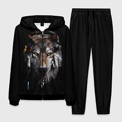 Костюм мужской Волк-шаман цвета 3D-черный — фото 1