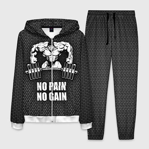 Мужской костюм No pain, no gain / 3D-Белый – фото 1
