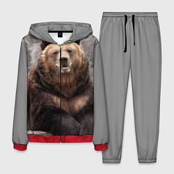 Костюм мужской Русский медведь цвета 3D-красный — фото 1