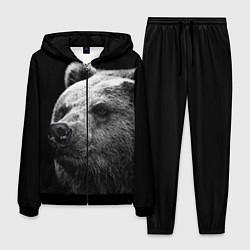 Костюм мужской Черно-белый медведь цвета 3D-черный — фото 1
