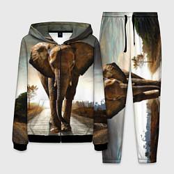 Костюм мужской Дикий слон цвета 3D-черный — фото 1