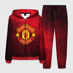 Костюм мужской Манчестер Юнайтед цвета 3D-красный — фото 1